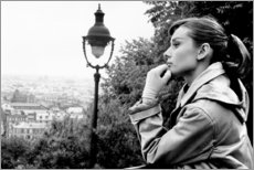 Canvas print  Audrey Hepburn looking into the distance - Celebrity Collection