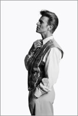 Premium poster  David Bowie in profile - Celebrity Collection