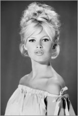 Canvas print  Brigitte Bardot with her shoulders uncovered - Celebrity Collection
