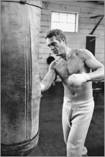 Acrylic print  Steve McQueen boxing - Celebrity Collection