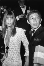 Aluminium print  Jane Birkin and Serge Gainsbourg - Celebrity Collection
