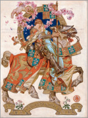 Acrylic print  Honeymoon - Joseph Christian Leyendecker