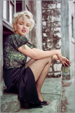 Canvas print  Marilyn Monroe having a movie break - Celebrity Collection