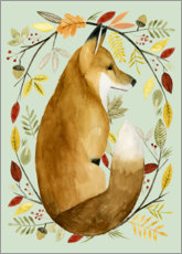 Canvas print  Fox in the fall - Grace Popp