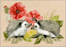 Premium poster  Happy hedgehogs - Grace Popp