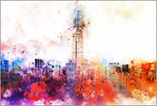 Acrylic print  NYC skyline with Empire State Building - Philippe HUGONNARD