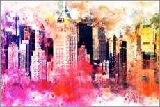 Acrylic print  NYC City of Colors - Philippe HUGONNARD