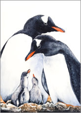 Canvas print  Happy Penguin Family - Zaira Dzhaubaeva