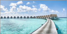 Acrylic print  Luxury resort in the Maldives - Jan Christopher Becke
