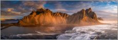 Canvas print  Vestrahorn mountains in Iceland - Dennis Fischer
