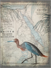 Wall sticker Vintage Egret Egypt