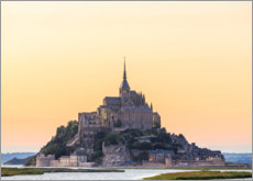 Acrylic print  Mont-Saint-Michel in the sunrise