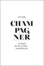 Premium poster  Champagner - Amy and Kurt