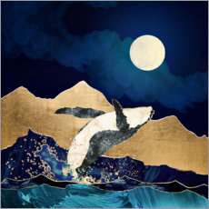 Premium poster  The Free Whale - SpaceFrog Designs