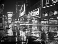 Foam board print  Rain in Times Square in New York