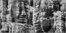 Wall sticker  Stone faces in Bayon Temple, Cambodia