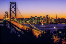 Canvas print  Oakland Bay Bridge at sunset, California