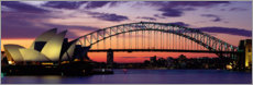 Premium poster  Sunset over the harbor of Sydney, Australia