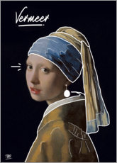 Premium poster The girl with the pearl ear-hanger