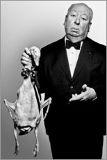 Premium poster Alfred Hitchcock with duck