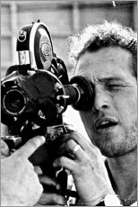 Premium poster Paul Newman with Camera