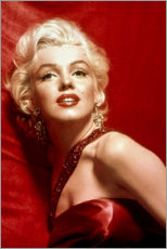 Canvas print  Marilyn Monroe - red dress - Celebrity Collection