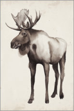 Gallery print  Moose in the far north - Grace Popp