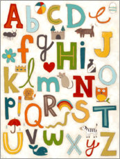 Wall sticker  Letters of the Alphabet - June Vess