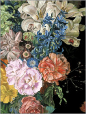 Wood print  Baroque flowers II - Melissa Wang