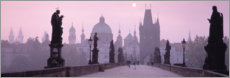 Premium poster  Purple hour on Charles Bridge