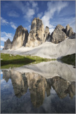 Canvas print  The Three Peaks in the Dolomites - Tobias Richter