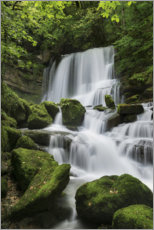 Acrylic print  Waterfall on the rock slope, France - Tobias Richter