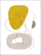 Premium poster Abstract Composition I