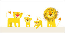 Wall sticker  Family Lionheart II - Julia Reyelt