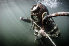 Acrylic print  Old Industrial Diver - nitrogenic