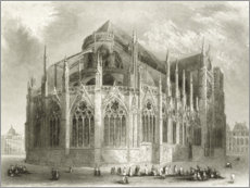 Wood print  Notre Dame Cathedral, East End - Hablot Knight Browne