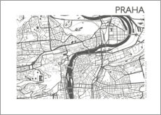 Premium poster  City map of Prague - 44spaces