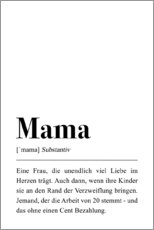 Canvas print  Mama Definition (German) - Pulse of Art