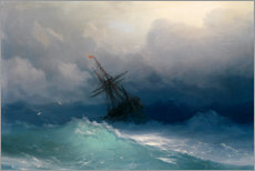 Acrylic print  Ship at heavy sea - Ivan Konstantinovich Aivazovsky