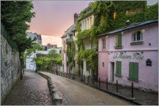 Premium poster Streets of Montmartre in Paris