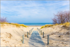 Canvas print  The way to the beach - Reemt Peters-Hein