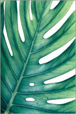 Acrylic print  Green Monstera - Art Couture