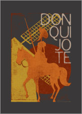 Wood print  Don Quixote - Timone
