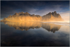 Premium poster Iceland - The Vestrahorn at sunrise