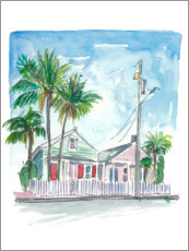 Premium poster Dream homes in Key West, Florida