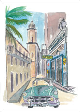 Canvas print  Street with vintage cars in Havana - M. Bleichner
