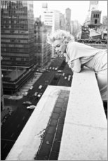 Aluminium print  Marilyn Monroe in New York - Celebrity Collection