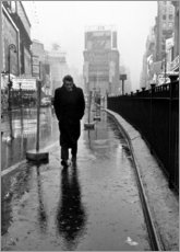 Wood print  James Dean in Times Square - Celebrity Collection