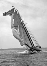Canvas print  Sailboat in full Speed