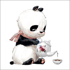 Canvas print  Tea time with panda - Kidz Collection